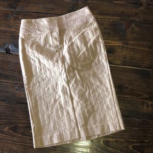 BeBe New with Tags! Tan High waisted pencil skirt